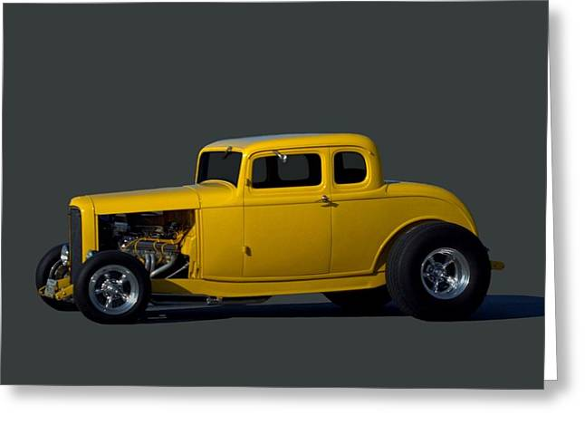 1932 Ford Greeting Cards - 1932 Ford Coupe Hot Rod Greeting Card by Tim McCullough