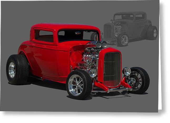 1932 Ford Greeting Cards - 1932 Ford Coupe Greeting Card by Tim McCullough