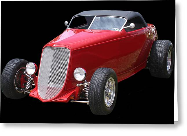 Las Cruces Photograph Greeting Cards - 1932 Ford Custom Roadster Greeting Card by Jack Pumphrey