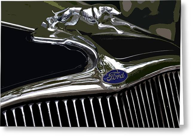 Greyhound Greeting Cards Greeting Cards - 1932 Ford Greyhound Greeting Card by Bill Owen