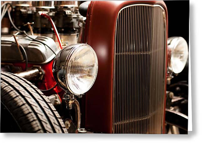 1932 Ford Greeting Cards - 1932 Ford Hotrod Greeting Card by Todd Aaron