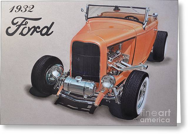 1932 Ford Greeting Card by Paul Kuras