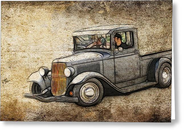 1950 Merc Greeting Cards - 1932 Ford Pickup Art Greeting Card by Steve McKinzie