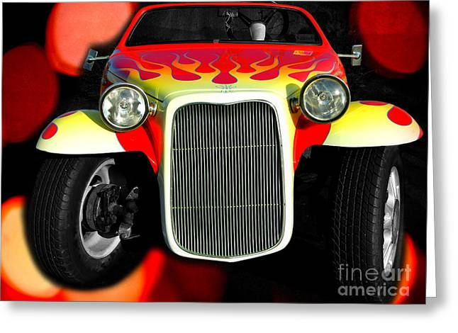 Steering Greeting Cards - 1932 Ford Roadster Replica Greeting Card by Mariola Bitner
