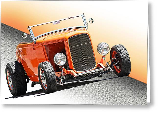 Deuce Coupe Greeting Cards - 1932 Ford The Deuce Roadster Greeting Card by Dave Koontz
