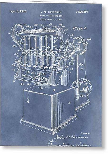 Manufacturing Digital Greeting Cards - 1932 Machine Patent Greeting Card by Dan Sproul