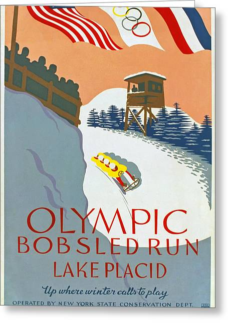 1932 Olympic Games Greeting Card by Mountain Dreams