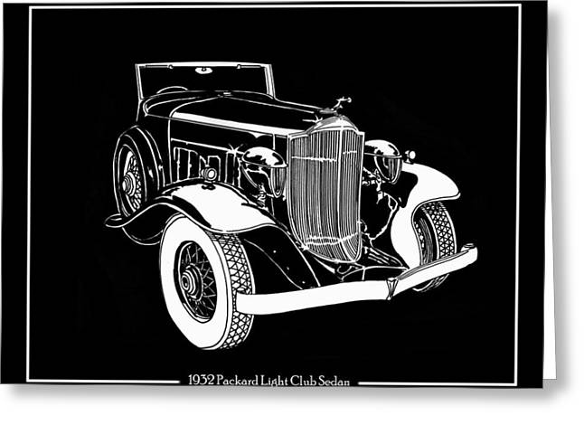 Wipe Out Greeting Cards - 1932 Packard Light Eight Greeting Card by Jack Pumphrey