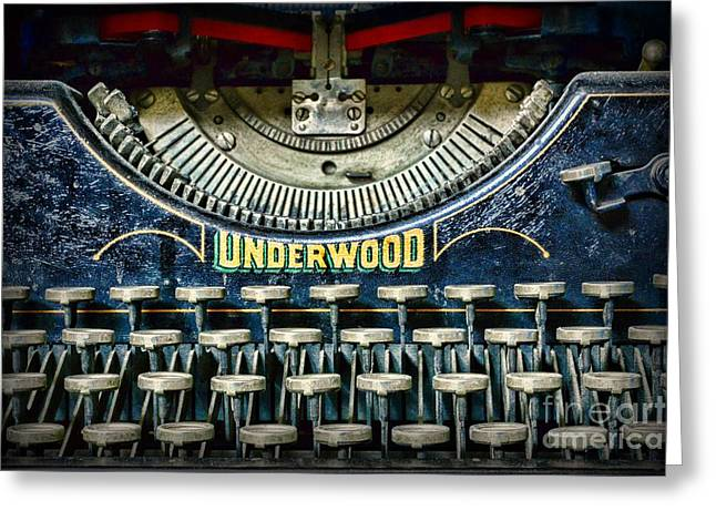 Typewriter Keys Photographs Greeting Cards - 1932 Underwood Typewriter Greeting Card by Paul Ward
