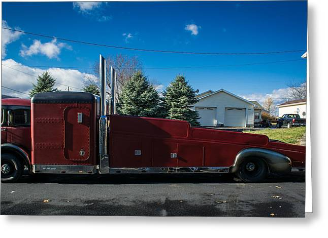 Car Carrier Greeting Cards - 1932 White Model 3020 Greeting Card by Ruth Harpster