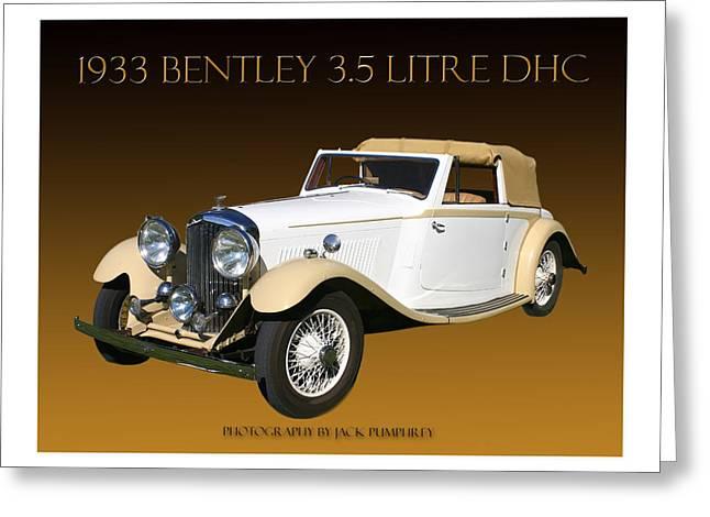 Because Greeting Cards - 1933 Bentley Derby D H C  Greeting Card by Jack Pumphrey
