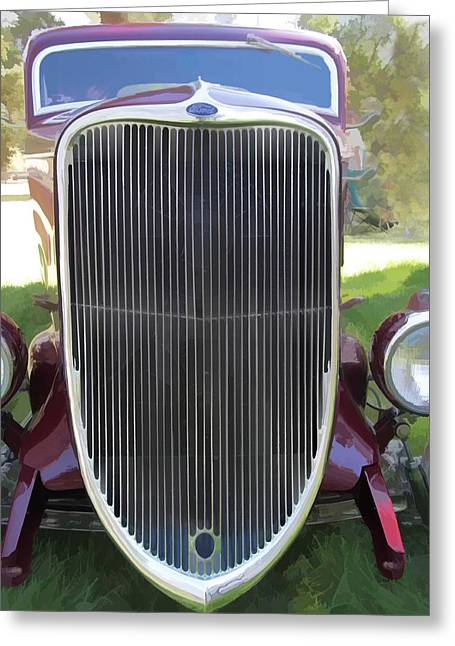 Ron Roberts Photography Greeting Cards - 1933 Ford Grille Greeting Card by Ron Roberts