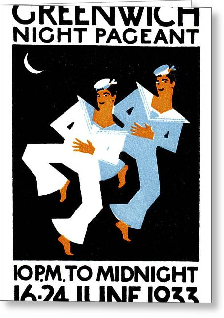 Londoners Greeting Cards - 1933 Greenwich Night Pageant Greeting Card by Historic Image
