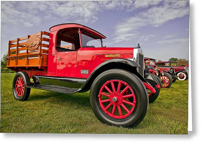 Up And Coming Greeting Cards - 1933 International Truck Greeting Card by Marcia Colelli