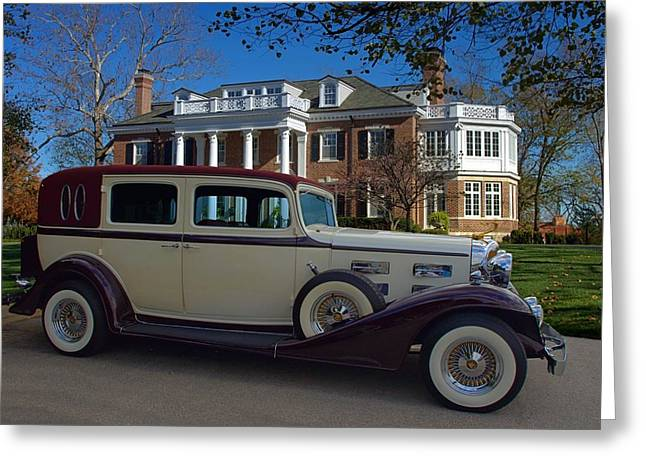 Touring Car Greeting Cards - 1933 LaSalle Touring Car Greeting Card by Tim McCullough