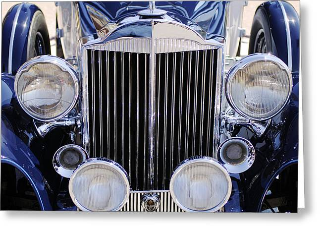 Jill Reger Photography Greeting Cards - 1933 Packard 12 Convertible Coupe Grille Greeting Card by Jill Reger