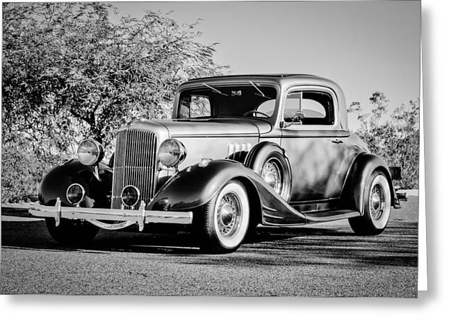 1933 Pontiac Greeting Cards - 1933 Pontiac -0011bw Greeting Card by Jill Reger