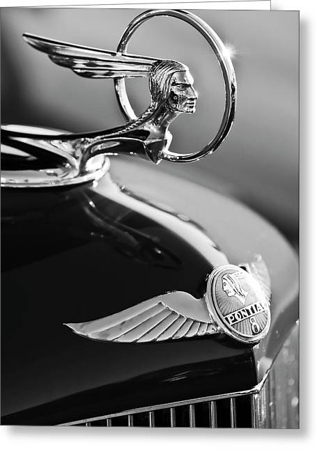 Mascot Photographs Greeting Cards - 1933 Pontiac Hood Ornament 4 Greeting Card by Jill Reger