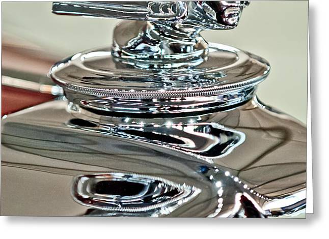 1933 Stutz DV-32 Dual Cowl Phaeton Hood Ornament 2 Greeting Card by Jill Reger
