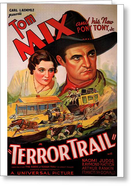 1933 Terror Trail Vintage Movie Art Greeting Card by Presented By American Classic Art