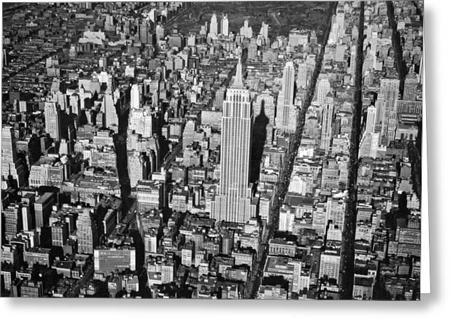 1934 Aerial View Of Manhattan Greeting Card by Underwood Archives
