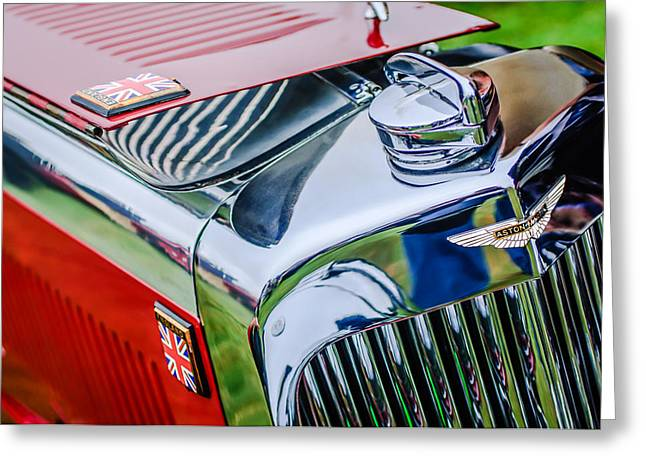 1934 Aston Martin Mark II Short Chassis 2-4 Seater - Grille Emblem -0922c Greeting Card by Jill Reger