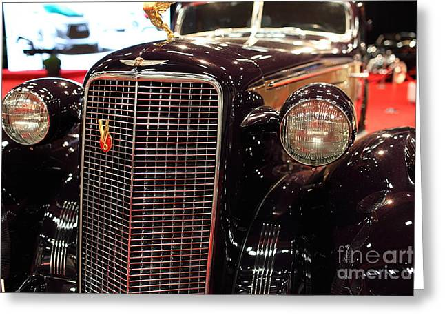 1934 Cadillac V16 Aero Coupe - 5D19876 Greeting Card by Wingsdomain Art and Photography