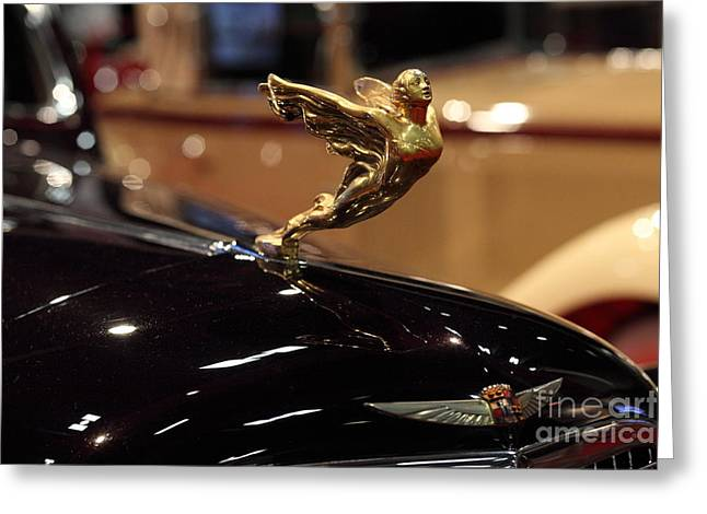 Caddy Greeting Cards - 1934 Cadillac V16 Aero Coupe - 5D20126 Greeting Card by Wingsdomain Art and Photography