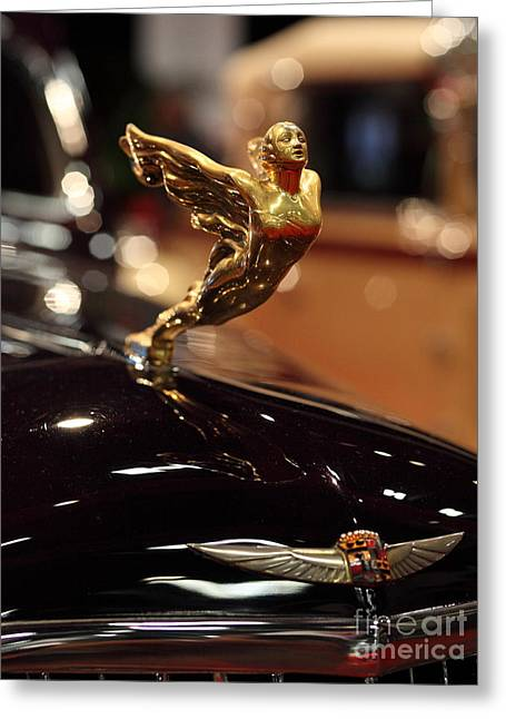 Caddy Greeting Cards - 1934 Cadillac V16 Aero Coupe - 5D20127 Greeting Card by Wingsdomain Art and Photography