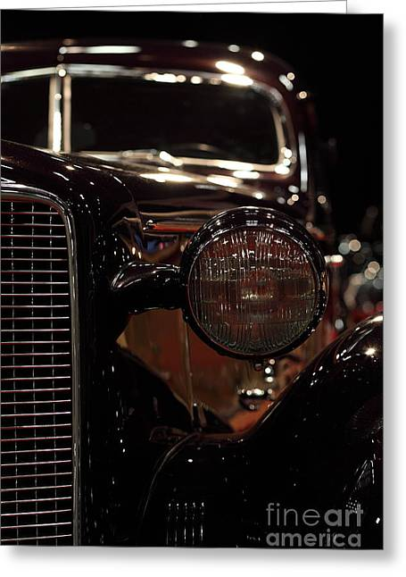 Caddy Greeting Cards - 1934 Cadillac V16 Aero Coupe - 5D20130 Greeting Card by Wingsdomain Art and Photography