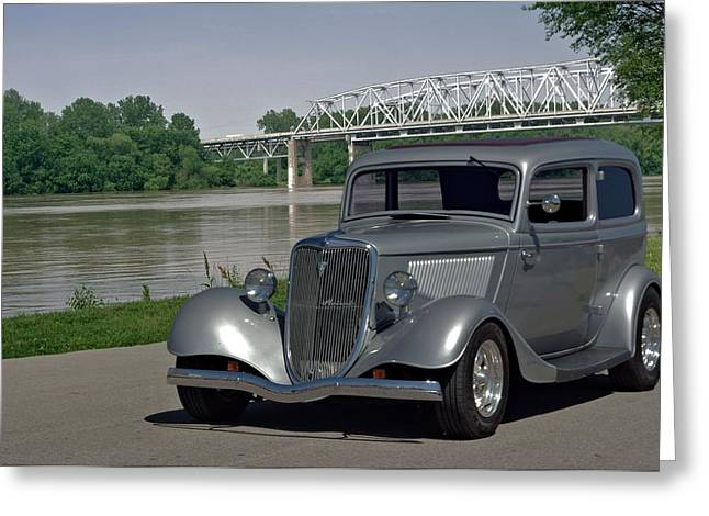 Ford Sedan Greeting Cards - 1934 Ford Sedan Hot Rod Greeting Card by Tim McCullough