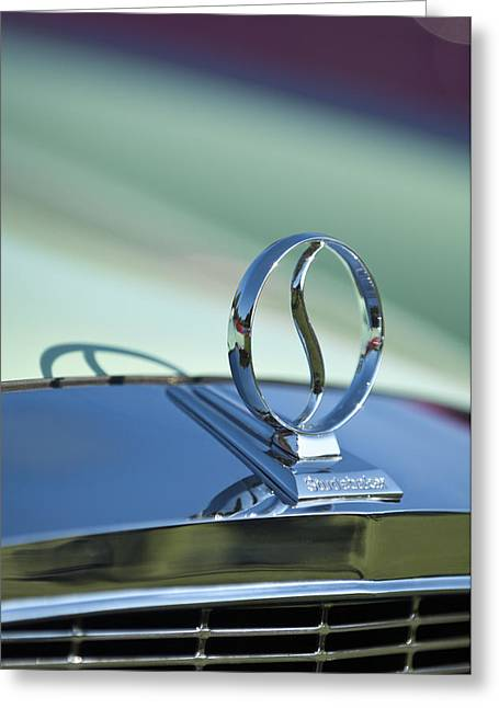 1934 Studebaker Hood Ornament Greeting Card by Jill Reger