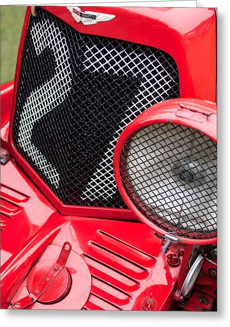 Car Grill Greeting Cards - 1935 Aston Martin Ulster Race Car Grille Greeting Card by Jill Reger