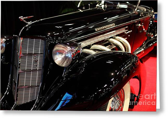 851 Greeting Cards - 1935 Auburn 851 Speedster - 5D19975 Greeting Card by Wingsdomain Art and Photography