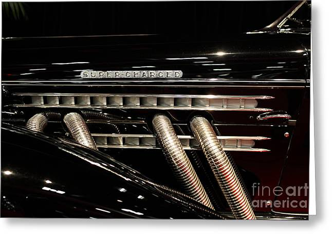 851 Greeting Cards - 1935 Auburn 851 Speedster - 5D19977 Greeting Card by Wingsdomain Art and Photography