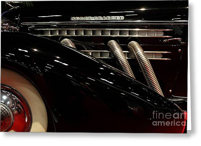851 Greeting Cards - 1935 Auburn 851 Speedster - 5D19979 Greeting Card by Wingsdomain Art and Photography