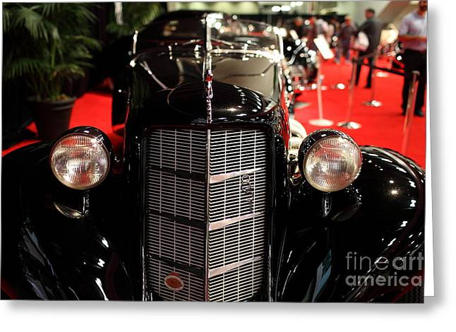 851 Greeting Cards - 1935 Auburn 851 Speedster - 5D19981 Greeting Card by Wingsdomain Art and Photography