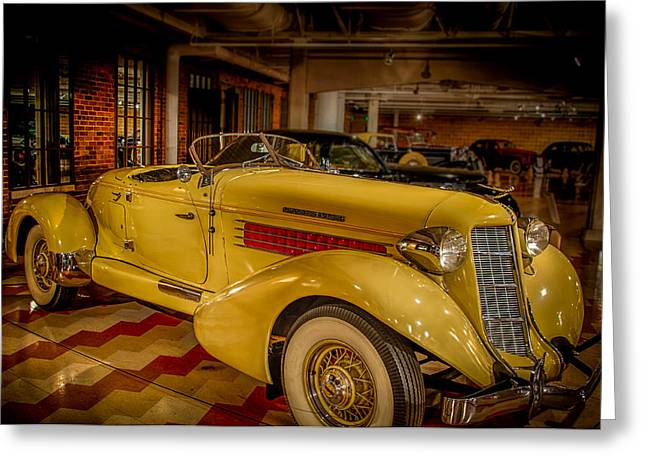 851 Greeting Cards - 1935 Auburn 851 Speedster Supercharged Greeting Card by Gene Sherrill