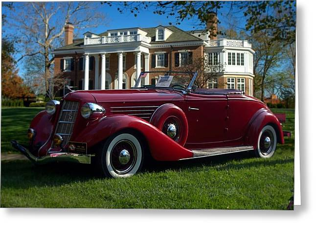 851 Greeting Cards - 1935 Auburn 851  Greeting Card by Tim McCullough