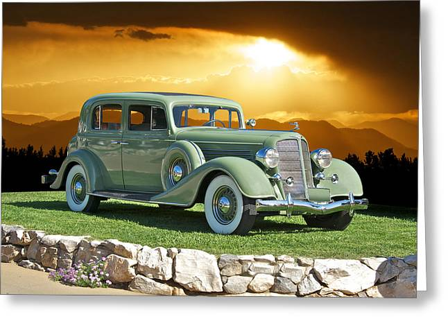 Limo Greeting Cards - 1935 Buick 61 Sedan Greeting Card by Dave Koontz