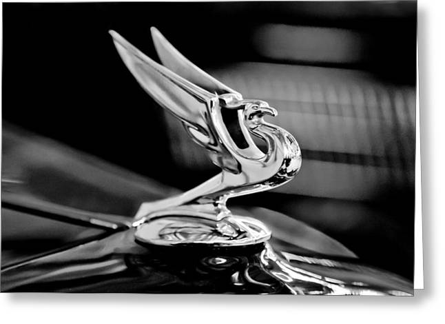 1935 Chevrolet Hood Ornament 3 Greeting Card by Jill Reger