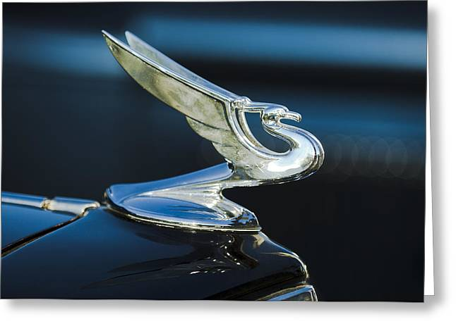 1935 Chevrolet Sedan Hood Ornament Greeting Card by Jill Reger