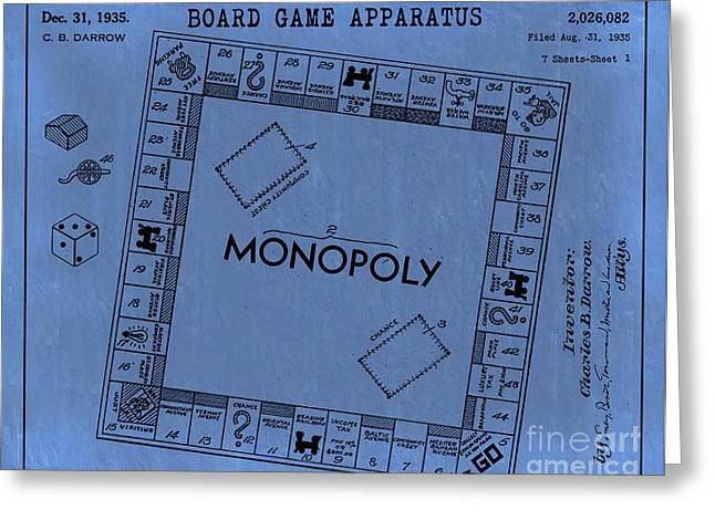 Monopoly Greeting Cards - 1935 Monopoly Patent Art 2 Greeting Card by Nishanth Gopinathan