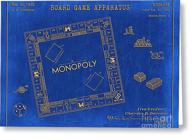 Best Sellers -  - Monopoly Greeting Cards - 1935 Monopoly Patent Art 3 Greeting Card by Nishanth Gopinathan