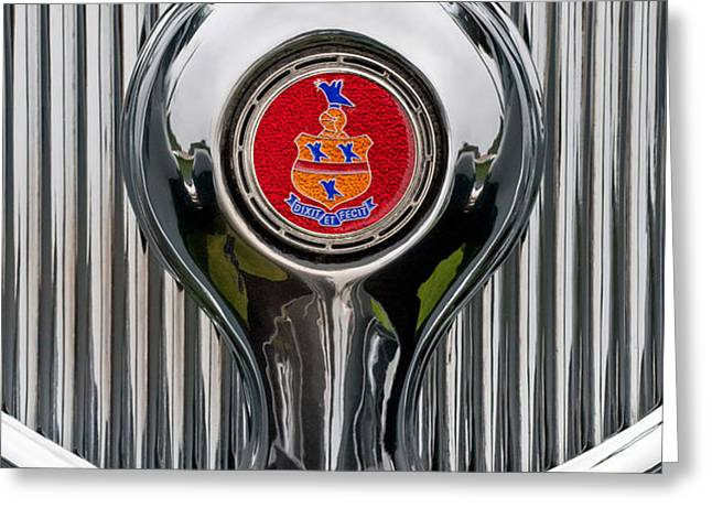 1935 Pierce-Arrow 845 Coupe Emblem Greeting Card by Jill Reger