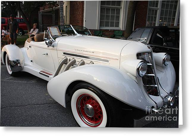 Art In Acrylic Greeting Cards - 1936 Auburn Super Charger Greeting Card by John Telfer