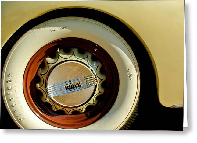 1936 Greeting Cards - 1936 Buick 40 Series Wheel Emblem Greeting Card by Jill Reger