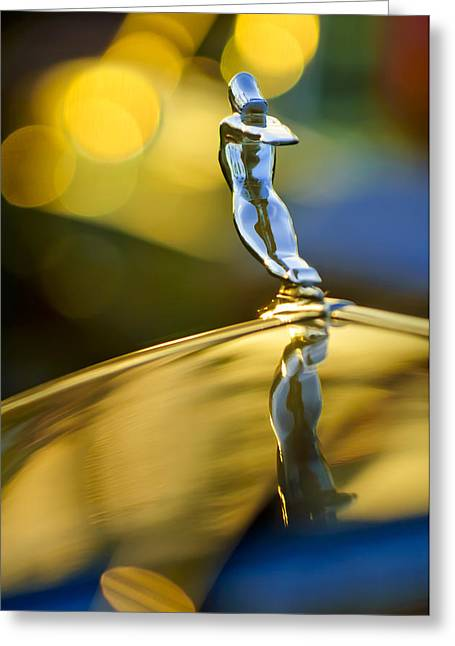 Caddy Greeting Cards - 1936 Cadillac Hood Ornament Greeting Card by Jill Reger