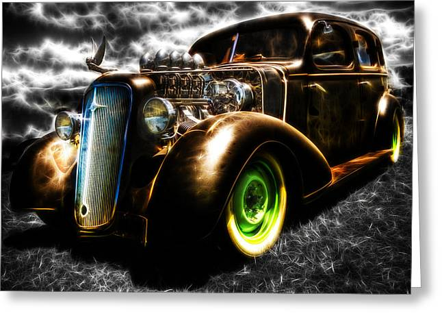 Aotearoa Greeting Cards - 1936 Chevrolet Sedan Greeting Card by Phil