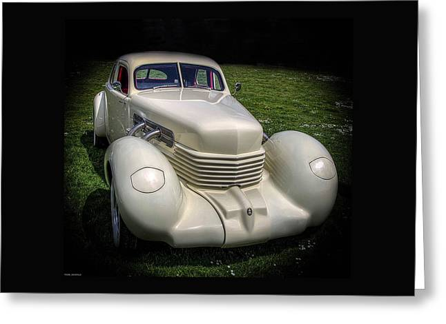 Automotive Art Greeting Cards - 1936 Cord Automobile Greeting Card by Thom Zehrfeld